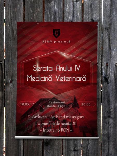 """Afiș """"Serata Anului IV Medicină veterinară"""""""