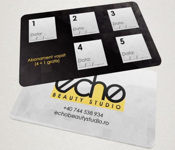 "Card de fidelitate ""Echo Beauty Studio"""