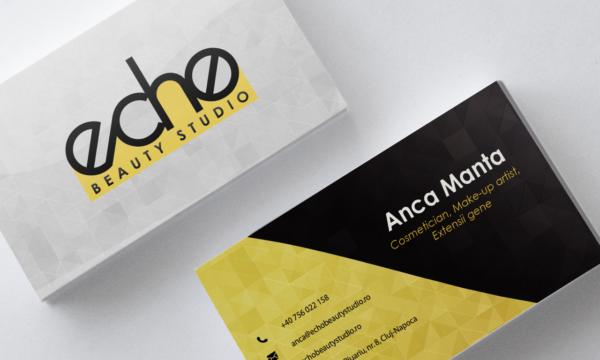 """Carte de vizită """"Echo Beauty Studio"""""""